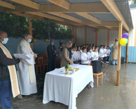 Bénédiction et inauguration école sainte-croix